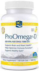 Nordic Naturals | ProOmega-D (Lemon) | 60 - 120 - 180 Softgels