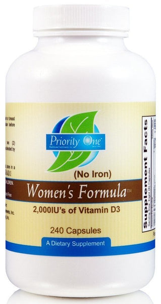 Priority One | Women's Formula Without Iron | 240 Capsules