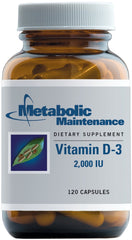 Metabolic Maintenance | Vitamin D3 2,000 IU | 120 Capsules