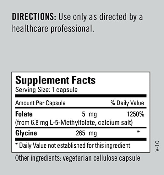 L-Methylfolate 5 Mg | 90 Capsules - Agape Nutrition