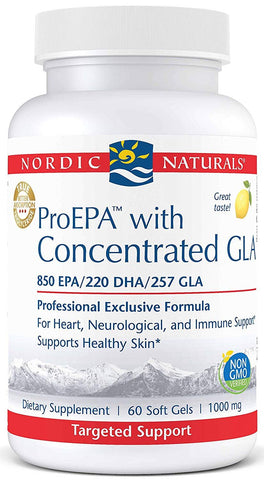 Nordic Naturals | ProEPA with Concentrated GLA Lemon | 60 Softgels