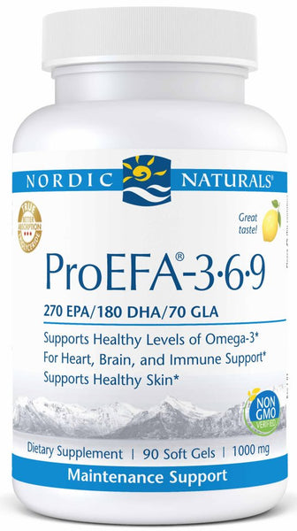Nordic Naturals | ProEFA-3.6.9. Lemon | 90 - 180 Softgels - 90 Softgels