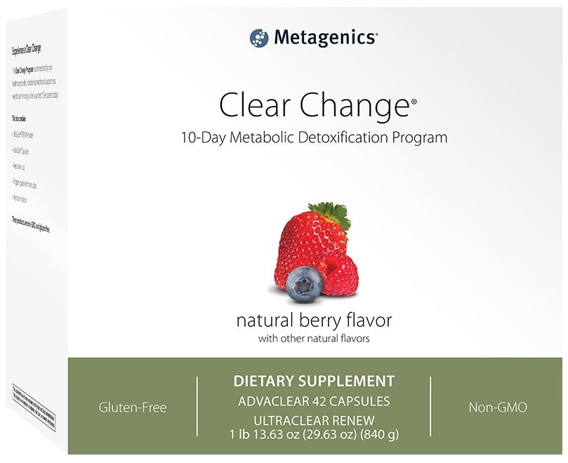 Metagenics | Clear Change® 10 Day Program with UltraClear® RENEW | Berry Flavor