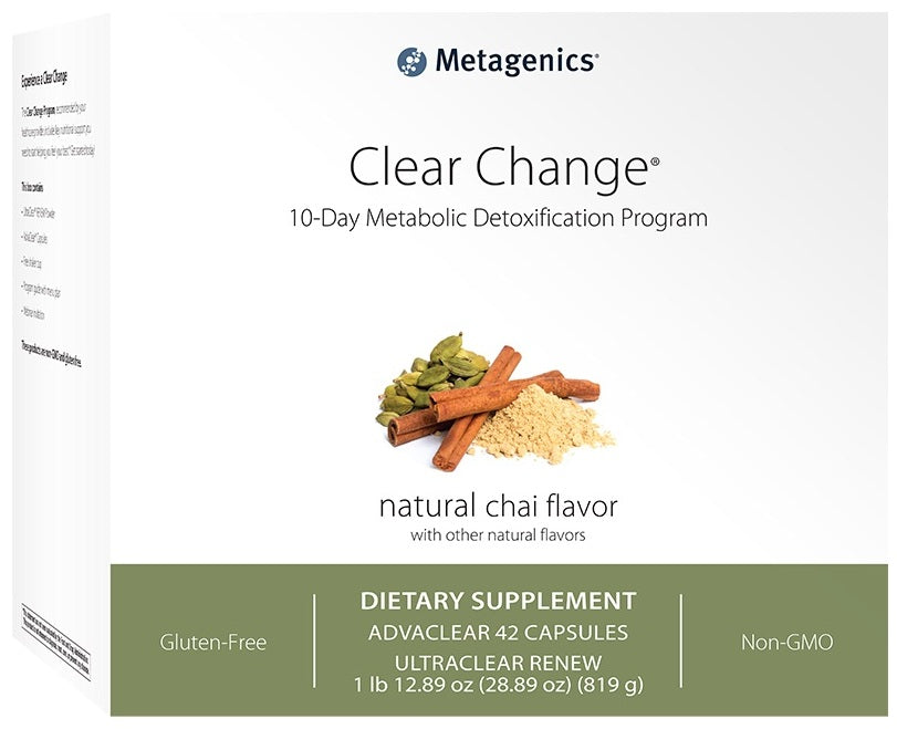 Metagenics | Clear Change® 10 Day Program with UltraClear® RENEW | Chai Flavor