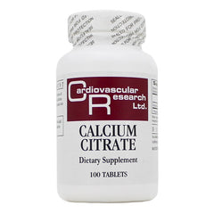 Ecological Formulas | Calcium Citrate 165mg | 100 Tablets