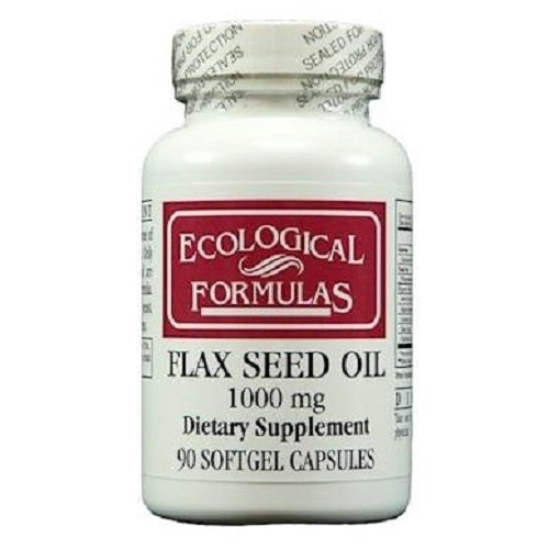 Ecological Formulas | Flax Seed Oil 1000mg | 90 Softgel