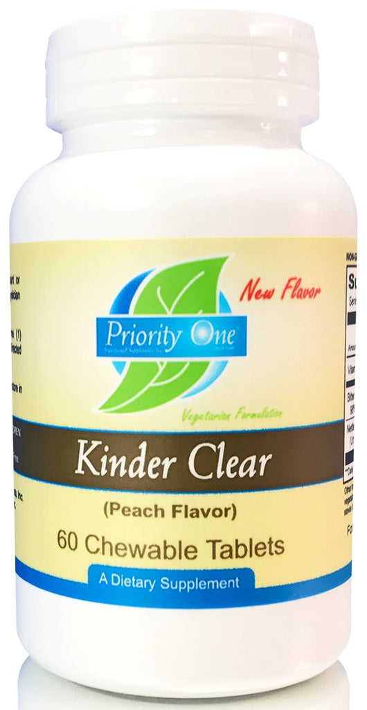 Priority One | Kinder Clear | 60 Chewable Tablets
