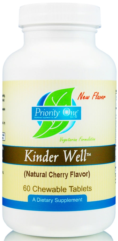 Priority One | Kinder Well | 60 Chewable Tablets