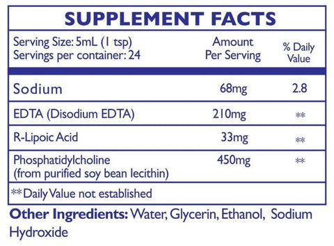 Quicksilver Scientific | EDTA with R-Lipoic Acid | 4 oz