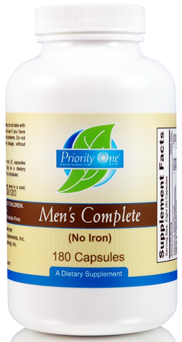 Priority One | Men's Complete No Iron | 180 Capsules