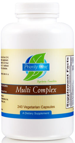 Priority One | Multi Complex | 240 Vegetarian Capsules