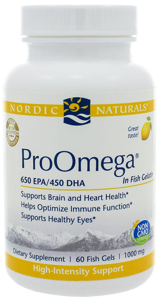 Nordic Naturals | ProOmega® in Fish Gelatin | 60 Softgels