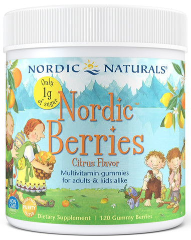 Nordic Naturals | Nordic Berries Reduced Sugar (Citrus) | 120 Gummy Berries