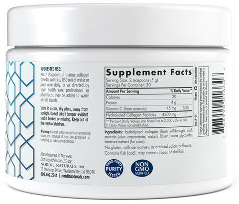 Nordic Naturals | Marine Collagen (Strawberry) | 5.29 Ounces
