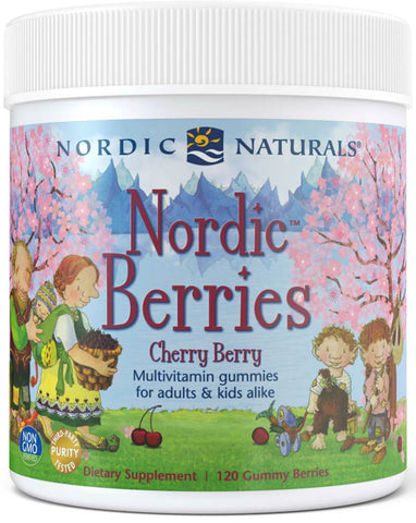 Nordic Natural | Nordic Berries Cherry Berry | 120 Gummies