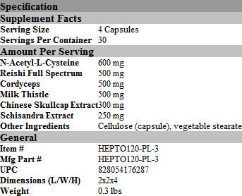 Protocols For Health | Hepato Plus | 120 Capsules