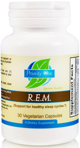 Priority One | R.E.M. | 30 Vegetarian Capsules
