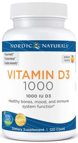 Nordic Naturals | Vitamin D3 (Orange) | 120 Capsules