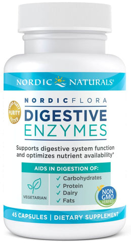 Nordic Naturals | Nordic Flora Digestive Enzymes | 45 Capsules