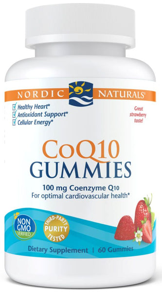 Nordic Naturals | CoQ10 Gummies (Strawberry) | 60 Gummies