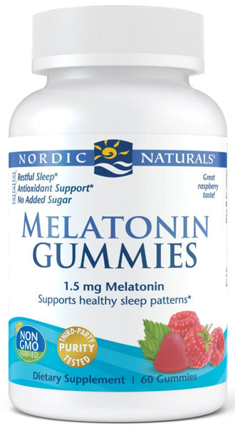 Nordic Naturals | Melatonin Gummies (Raspberry) | 60 Gummies