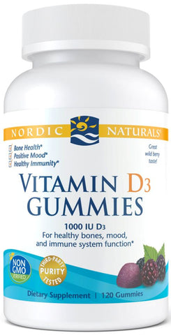 Nordic Naturals | Vitamin D3 Gummies (Wild Berry) | 60 - 120 Gummies