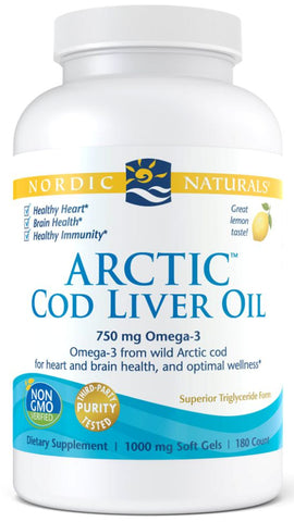 Nordic Naturals | Arctic Cod Liver Oil (Lemon) | 180 Softgels