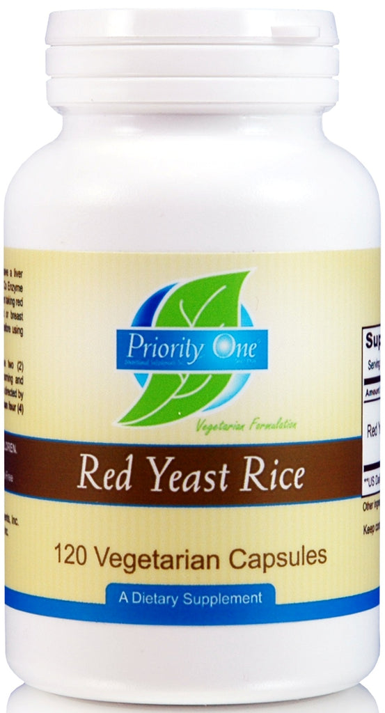 Priority One | Red Yeast Rice | 120 Vegetarian Capsules