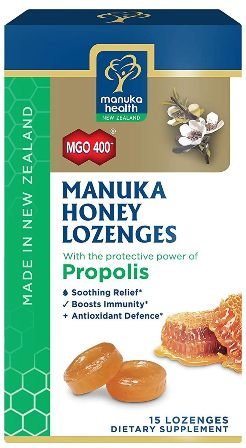 Manuka Health | Manuka Honey & Propolis Lozenges MGO 400+ | 15 Lozenges