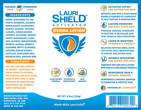 Med-Chem Laboratories | LauriShield™ Derma Lotion | 8.2 oz