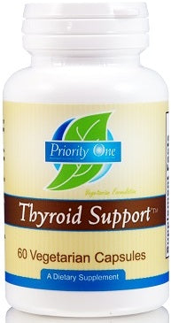 Priority One | Thyroid Support | 60 Vegetarian Capsules