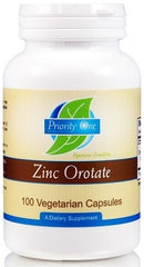 Priority One | Zinc Orotate | 100 Vegetarian Capsules