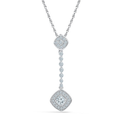 Dazzling Drop Diamond Pendant @ Radiant Bay