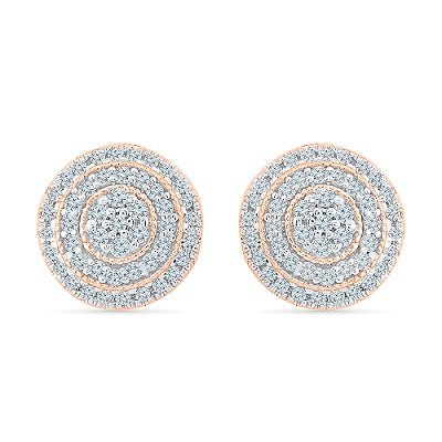 Charistmatic Circle Diamond Stud Earrings @ Radiant Bay