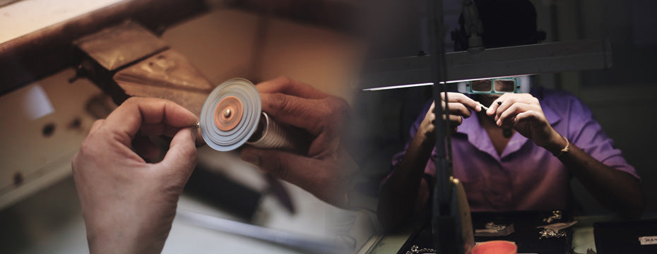 Filing and polishing- Jewellery Manufacturing Process