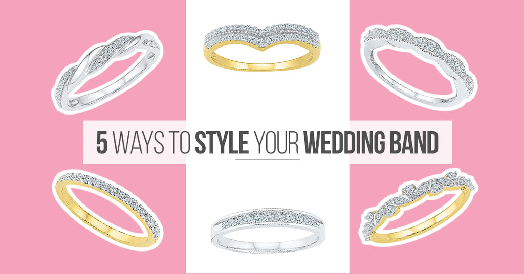 5 ways to style your wedding bands