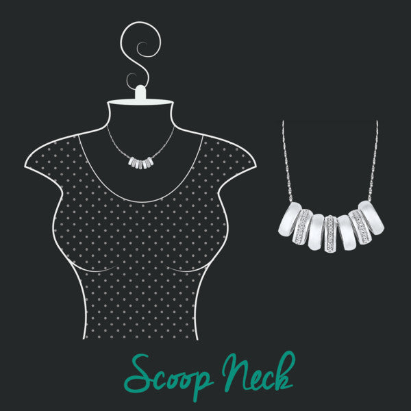 how to accessorize your neckline- scoop neck