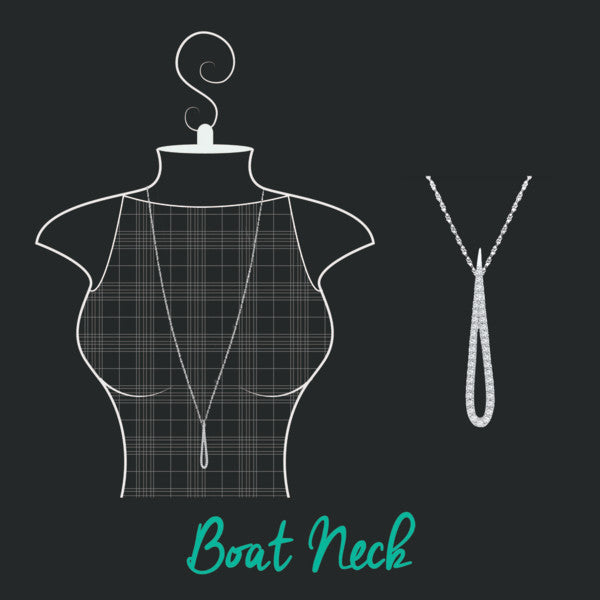 how to accessorize your neckline- boat neck