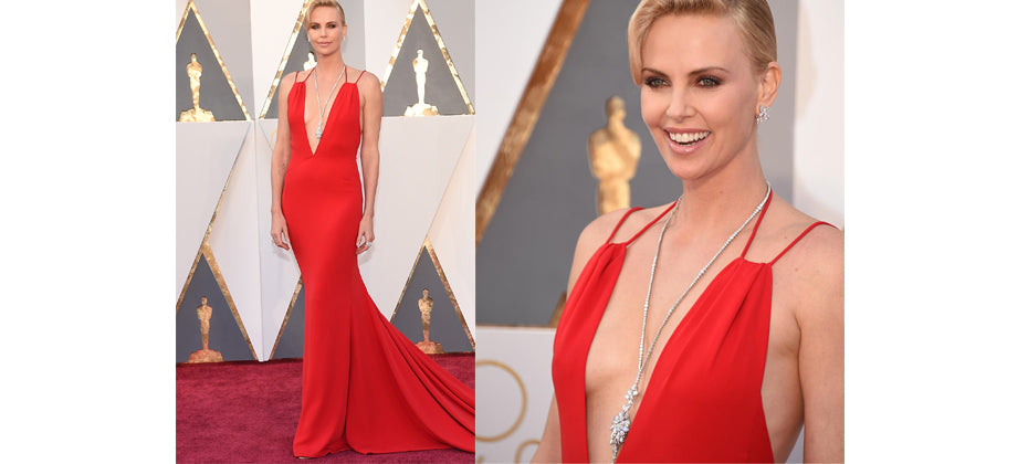 Charlize Theron- top jewellery at the 2016 Oscars