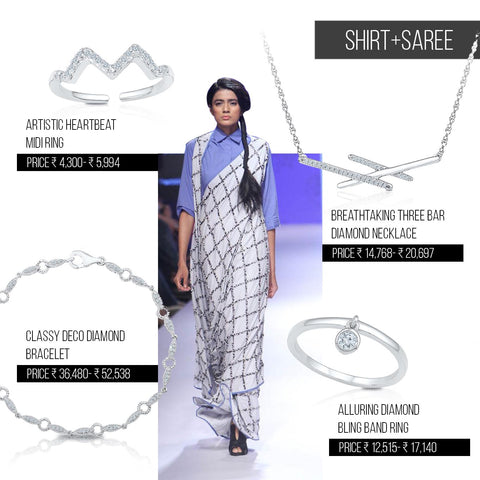 5 ways to style trends from Lakme Fashion Week Festive/ Winter 2016 - Shirt+Sari combination