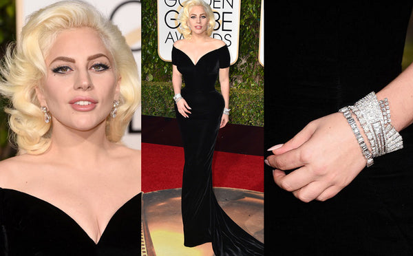 Top 10 pieces of jewellery at the Golden Globes 2016- Lady Gaga