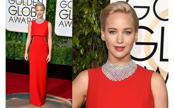 Top 10 pieces of jewellery at the Golden Globes 2016- Jennifer Lawrence