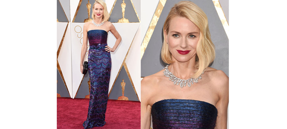 Naomi Watts- top jewellery at the 2016 Oscars