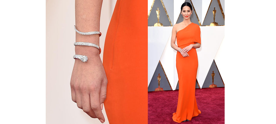 Olivia Munn- top jewellery at the 2016 Oscars