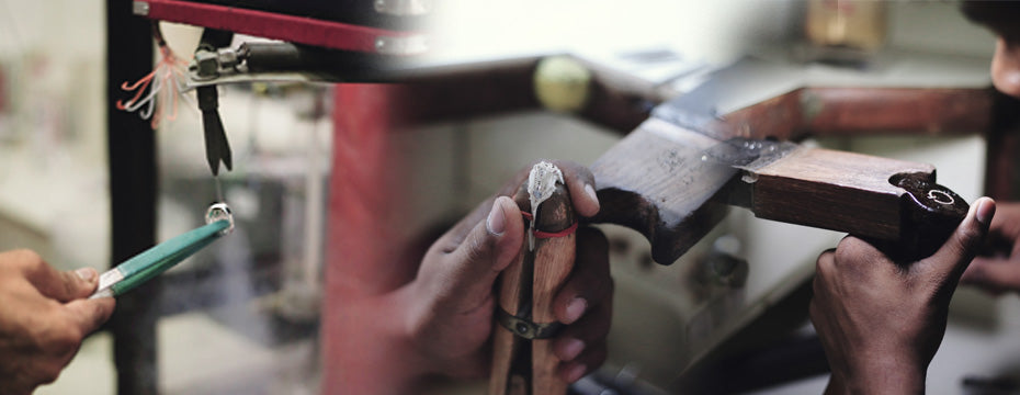 Setting of diamonds, and steam cleaning Jewellery Manufacturing Process