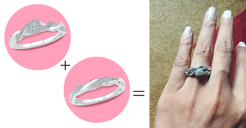 5 ways to style your wedding band- Create the perfect set by matching your rings.