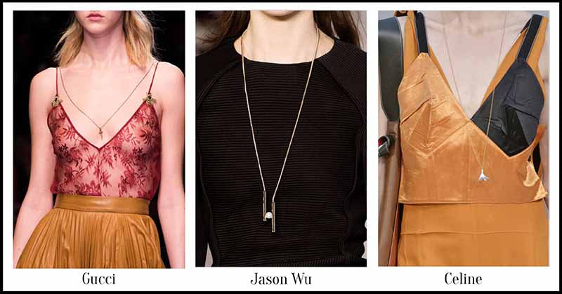Slim chains - Fall Jewellery for Autumn/Winter 2015