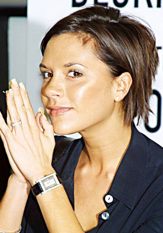 Victoria Beckham's diamond encrusted engagement ring band