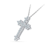 Journey Within Diamond Cross Pendant
