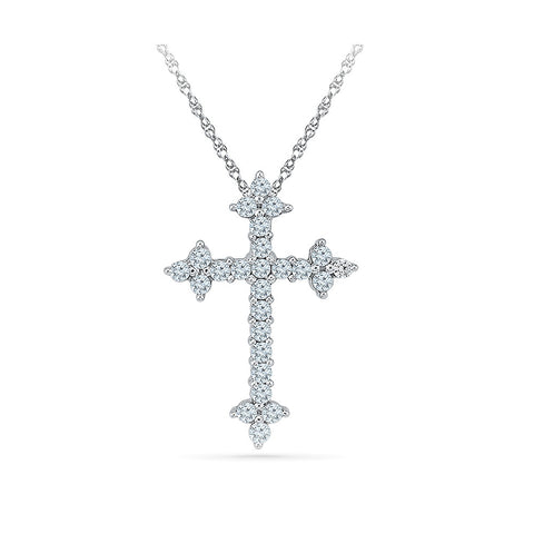 new coptic cross diamond pendant in 14k and 18k Gold online for women